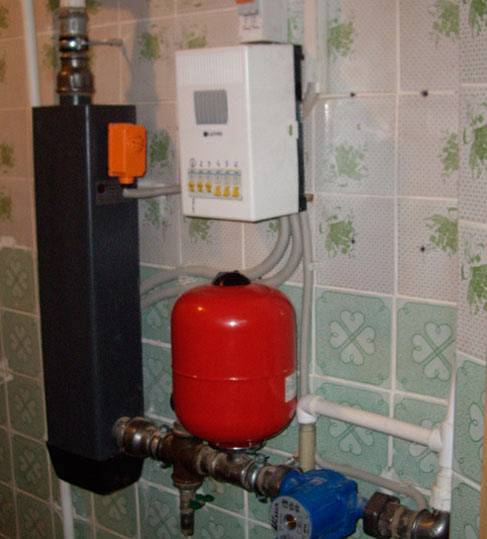 Схема электрического отопления частного дома