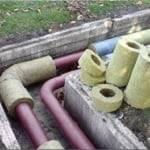 Утепление труб отопления в подвале