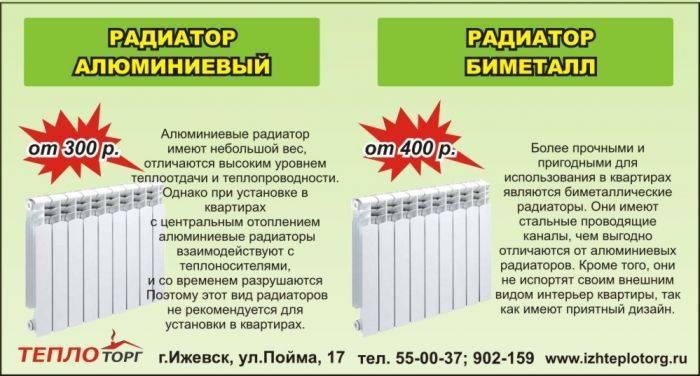Биметаллические или алюминиевые радиаторы - какие лучше? чем отличаются, отличия батарей для квартиры из разных материалов