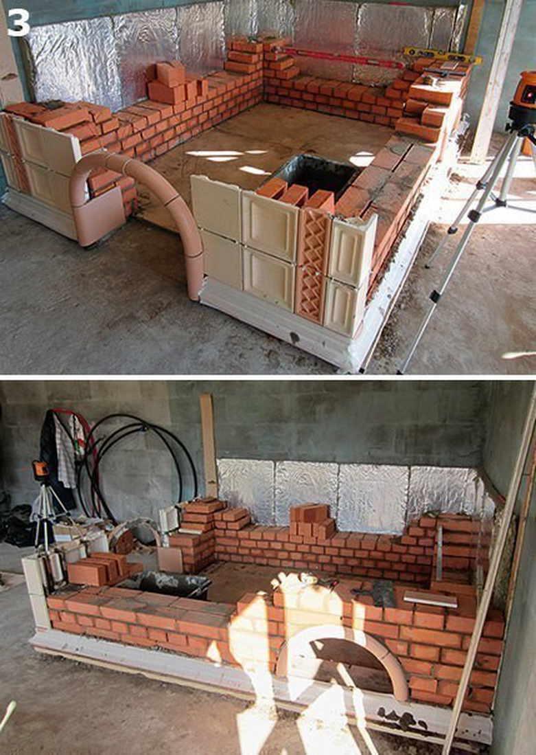 Печка с лежанкой для дачи своими руками