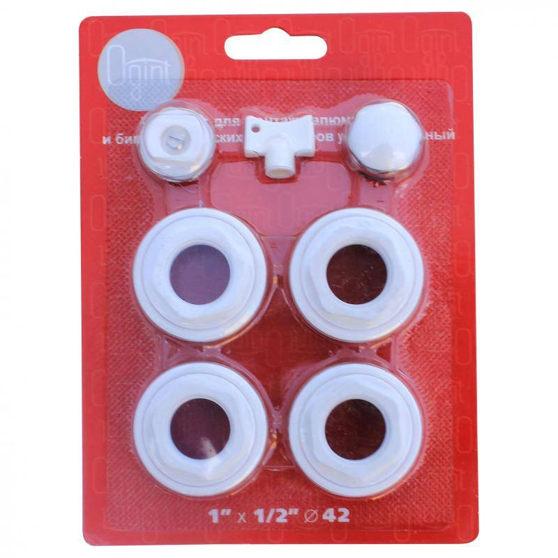 Комплект для радиаторов: выбор, особенности футорок, уплотнительных колец, кранов маевского, заглушек и кронштейнов - сантехник