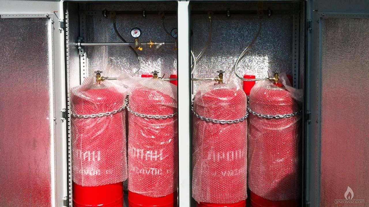 Правила установки газового баллона в частном доме