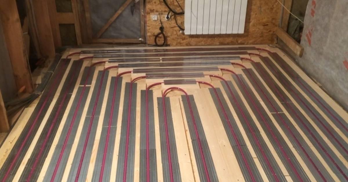 Теплый пол в каркасном доме - как сделать?