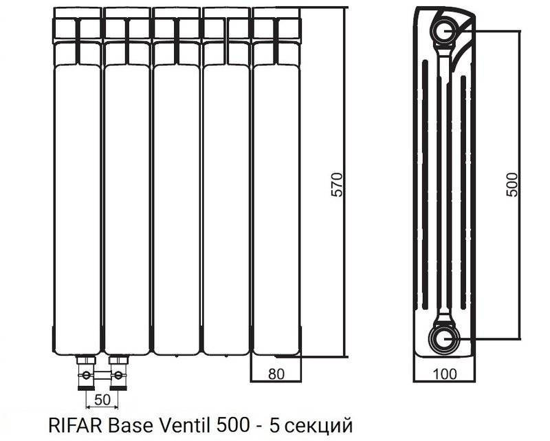 Как подобрать размеры радиаторов отопления?
