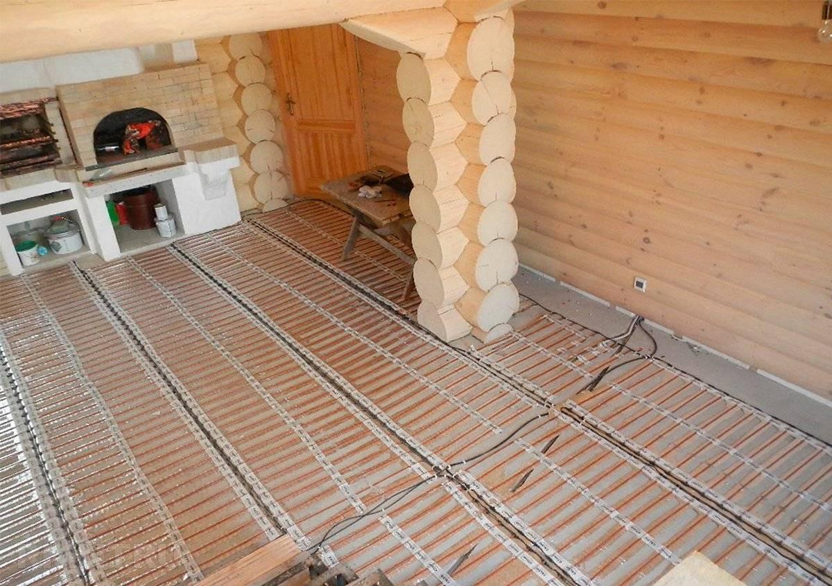 Электрический теплый пол в деревянном доме: можно ли класть на дерево в частном доме, как установить на деревянный пол, электро теплый пол в деревенском доме