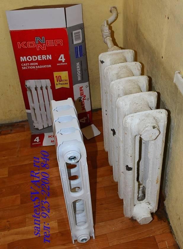 Качество и долговечность, проверенные временем – чугунные радиаторы для отопления konner и sti нова