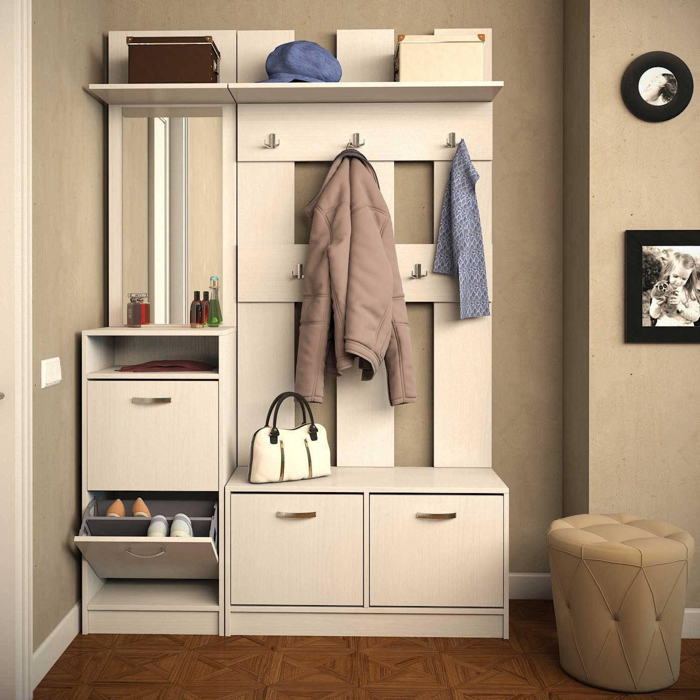 Прихожие в маленький коридор (102 фото): выбор мебели для малогабаритных коридоров, варианты дизайна мини-прихожих