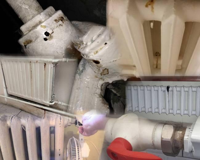 Потекла батарея отопления: что делать и чем замазать трещину