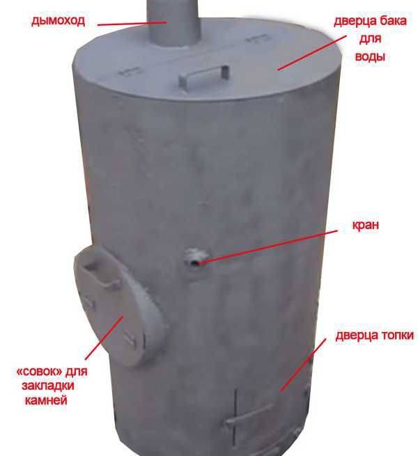 Котел для бани своими руками из подручных материалов: 3 варианта