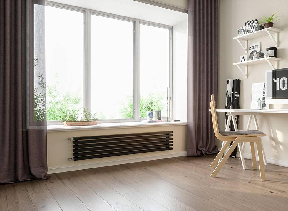Отопление при панорамном остеклении – низкие радиаторы отопления для панорамных окон: какие бывают батареи под панорамные окна, батареи под витражное окно