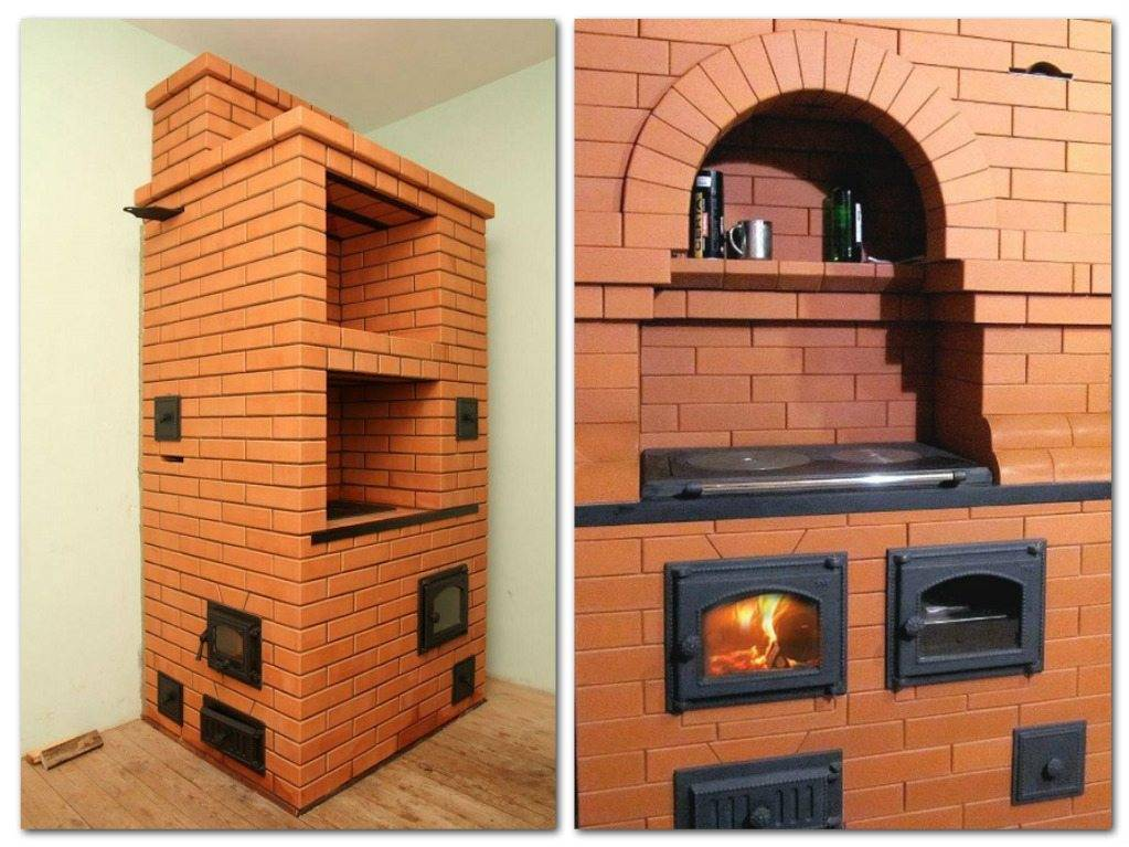 Кирпичная печь для дачи на дровах своими руками – строим правильно + видео