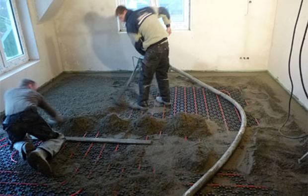 Как правильно залить теплый пол – варианты стяжки, виды смесей для заливки