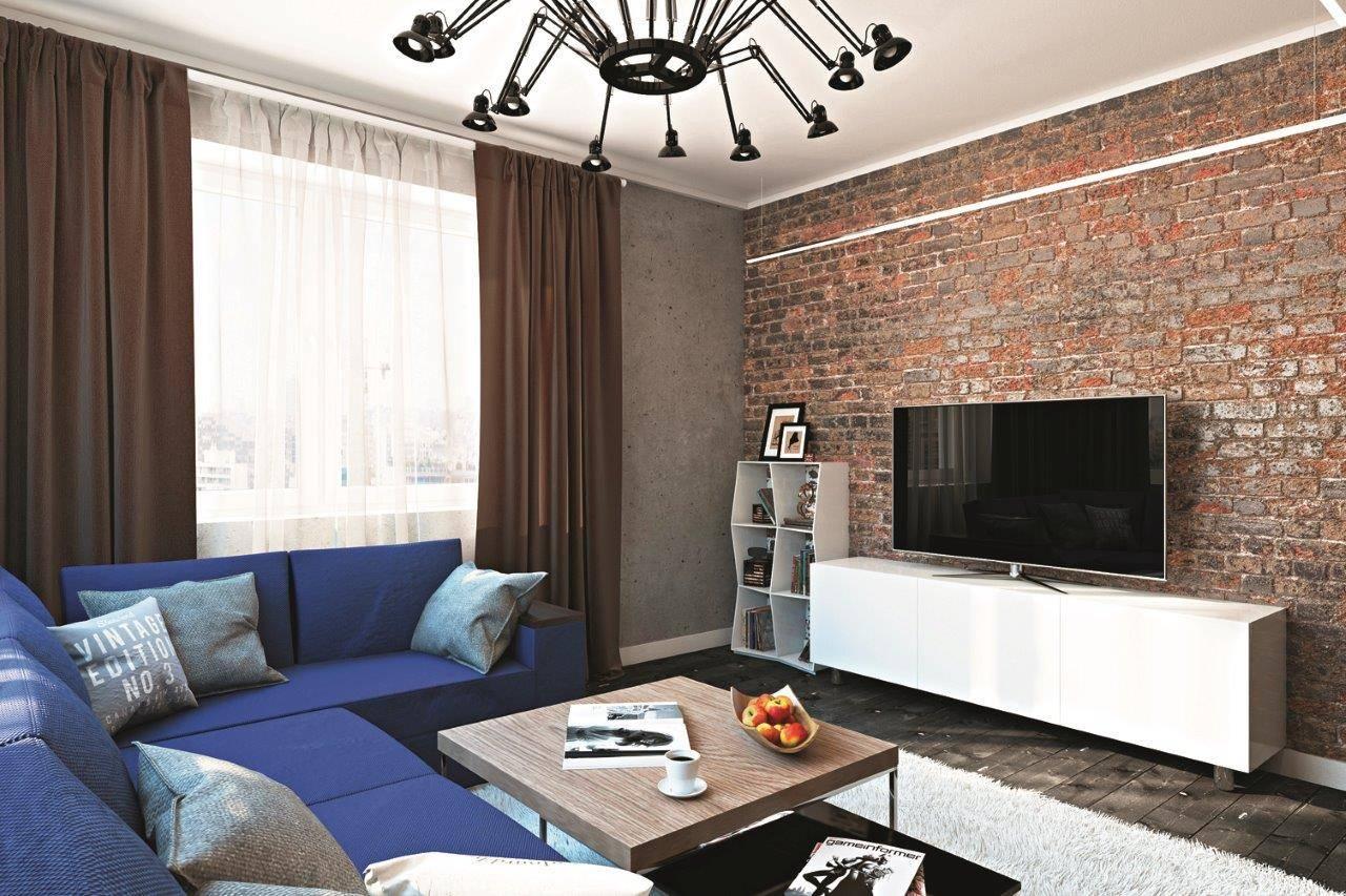 Гостиная в стиле лофт +75 фото вариантов дизайна интерьера