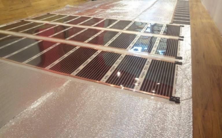 Тёплый пол под линолеум: пошаговый инструктаж по укладке пленочной ик системы