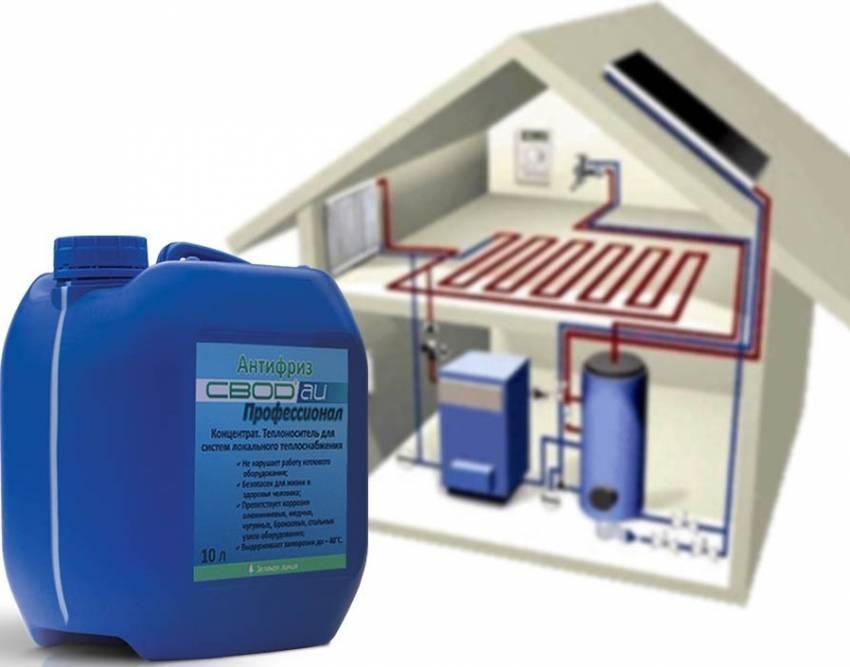 Жидкость для отопления частного дома: незамерзайка для системы отопления и котлов, можно ли использовать для водяного отопления, какую лучше заливать