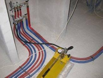 Как опрессовать тёплый пол - отопление и утепление - сайт о тепле в вашем доме