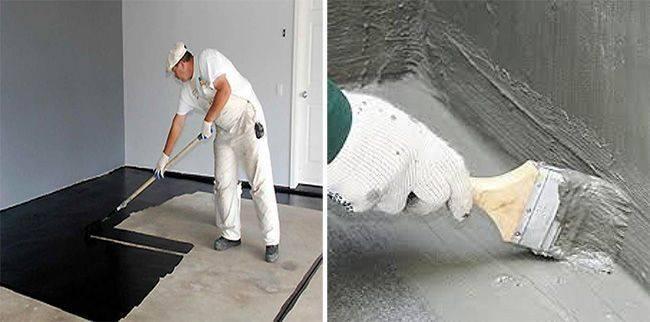 Гидроизоляция пола под стяжку (64 фото): как сделать в ванной комнате, в квартире или в доме, виды материалов для и особенности заливки
