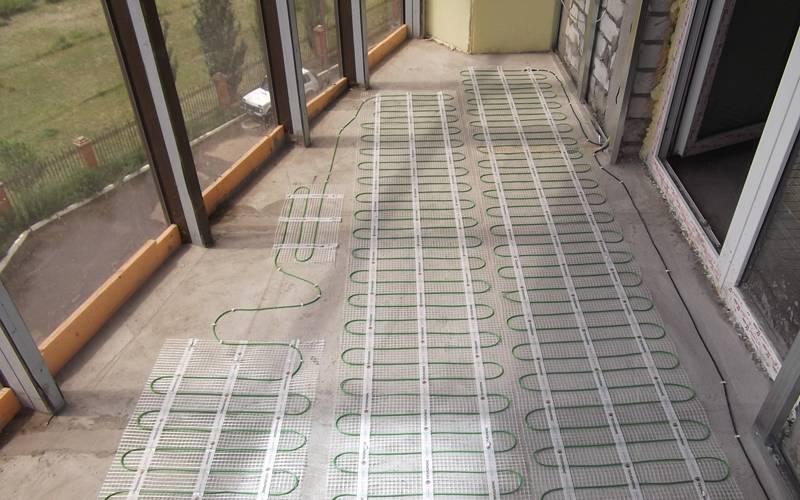 Теплый пол на балконе (лоджии): от выбора до установки
