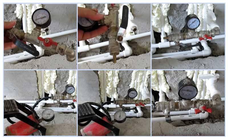 Опрессовка водопровода давлением сколько по времени