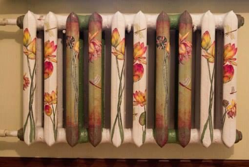 Как сделать декор батареи отопления своими руками используя декоративные панели