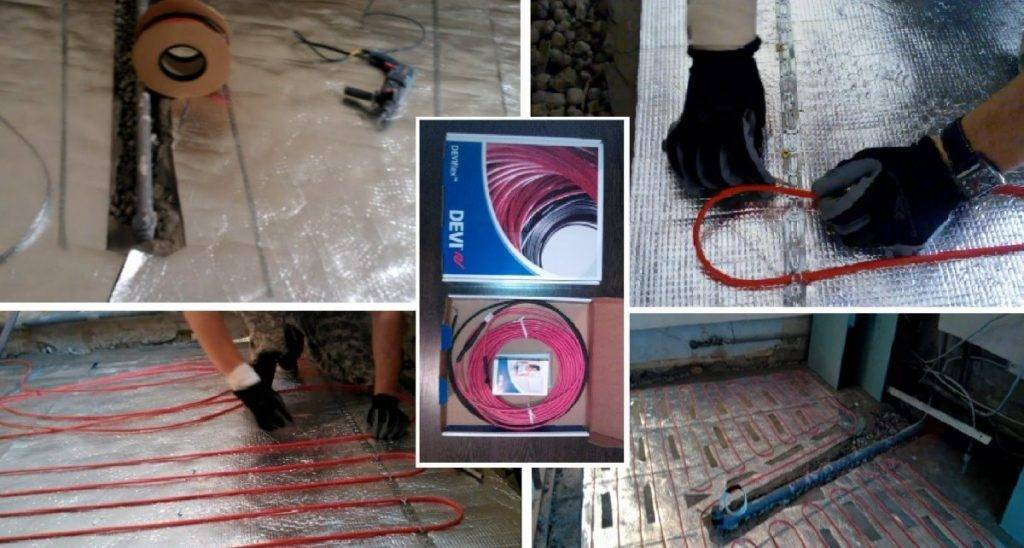 Греющий кабель для теплого пола: нагревательный провод в стяжку для обогрева, укладка на фото и видео