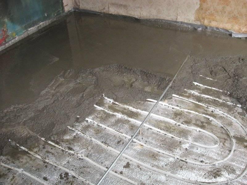Как приготовить раствора для заливки стяжки теплого водяного пола