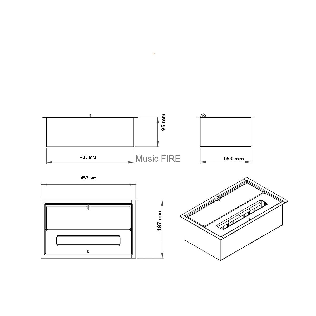 Как устроена горелка для биокамина, чертежи, изготовление своими руками