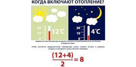 Начало отопительного сезона в россии - когда по закону включают отопление  ::   все дни
