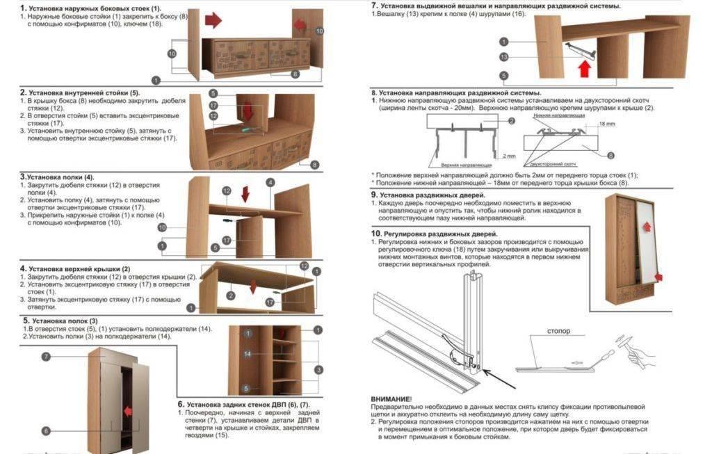 Шкаф-купе своими руками: 115 фото правил проектирования и постройки