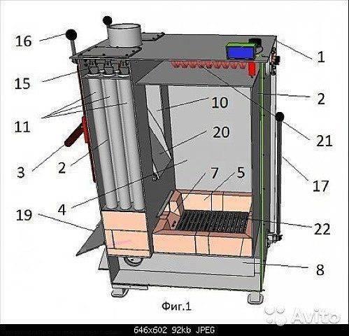 Пиролизный котел: как сделать своими руками, самодельная печь, чертеж конструкции
