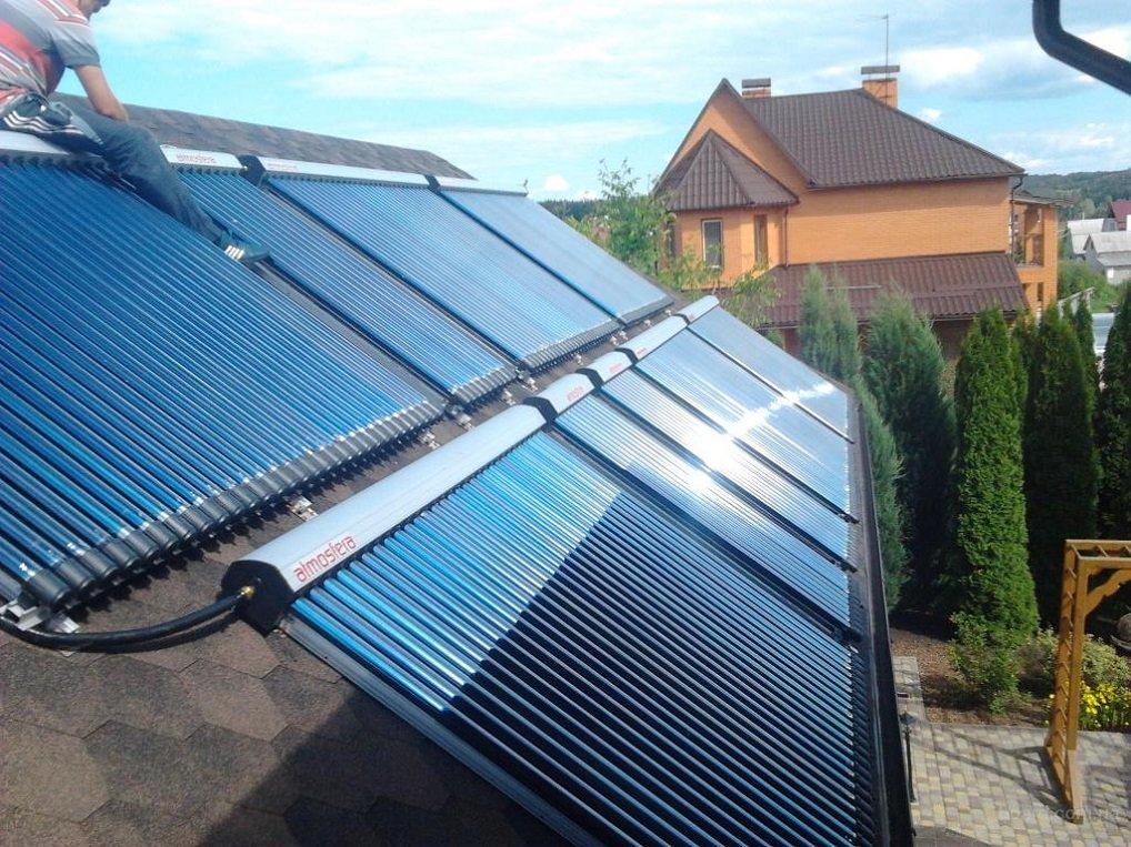 Самодельные солнечные водонагреватели
