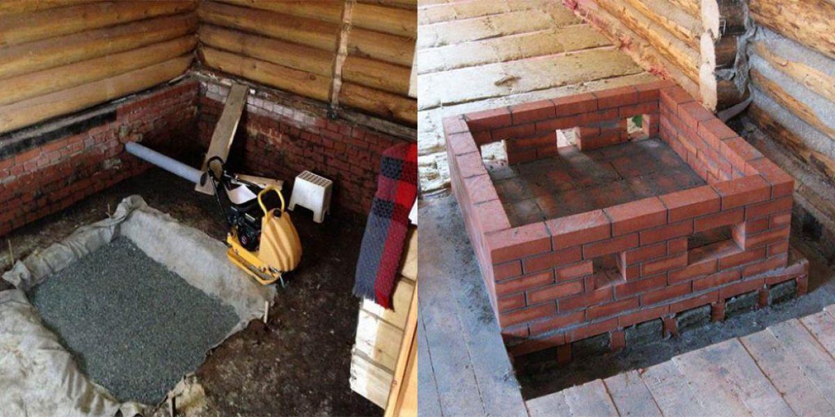 Фундамент под камин - нужен ли, размеры и виды в деревянном доме, как связать с полом, камин не требующий фундамента