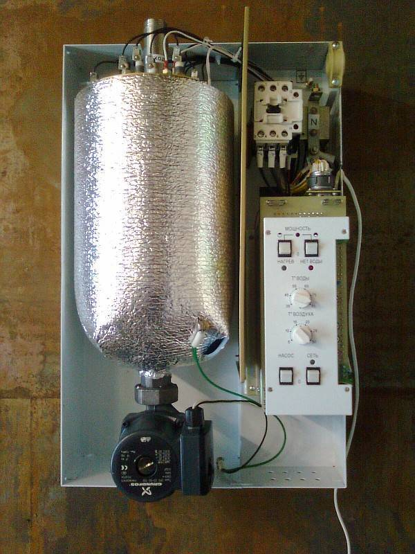 Постройка электрокотла для отопления частного дома своими руками