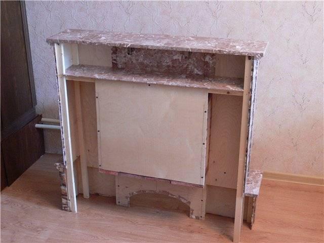 Фальш-камин как элемент декора интерьера квартиры