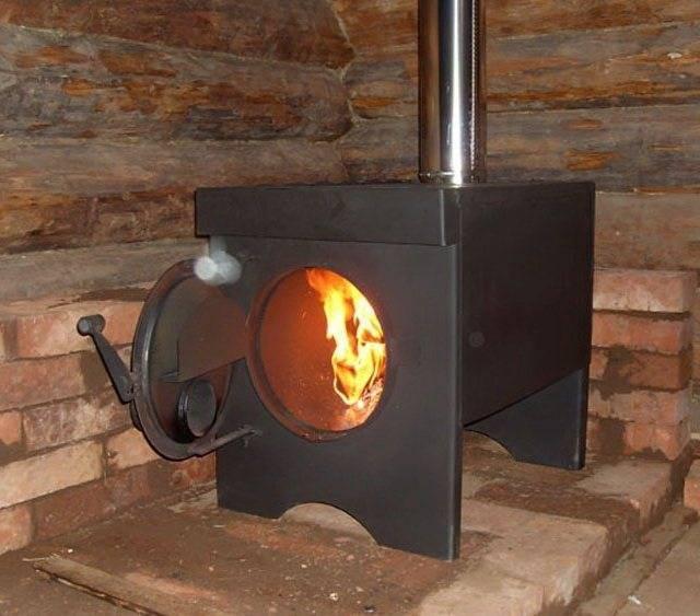 Металлический камин для дома: стальные, железные камины из металла своими руками, чертежи самодельной дровяной печи из железа