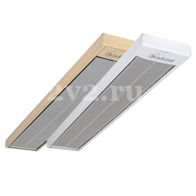 Инфракрасный обогреватель потолочный, какой выбрать: пленочный, ультрафиолетовый, стеклянный, электрический или длинноволновый, преимущества терморегулятора, детали на фото и видео