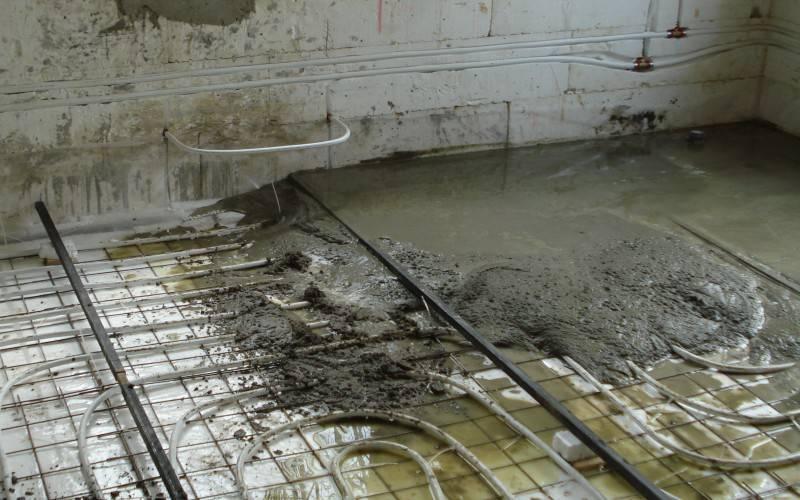Требования к заливке стяжки водяного теплого пола