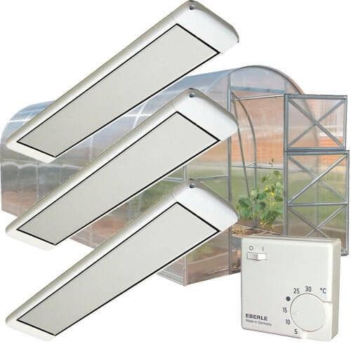 Обогрев теплицы: инфракрасный обогреватель для теплицы, обзор моделей