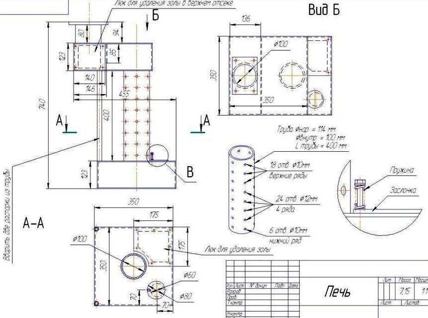 Печь на отработке с водяным контуром – выбор конструкции и инструкция по изготовлению