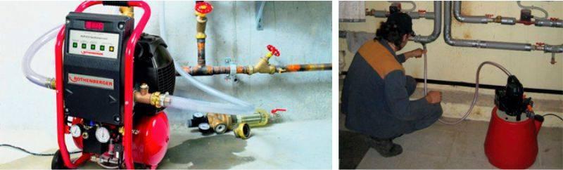 Гидропневмопромывка и гидропромывка систем отопления