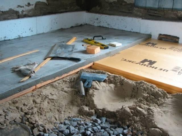 Утепление бетонного пола: варианты решения вопроса