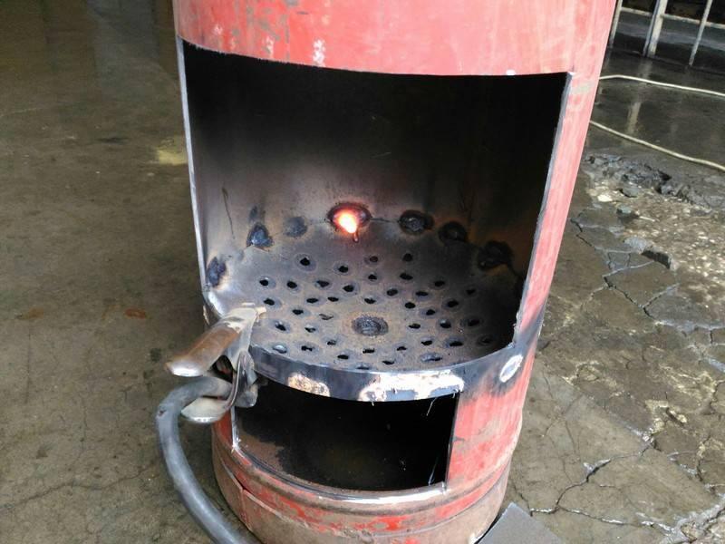 Инструкция по изготовлению печки-буржуйки из металлической бочки