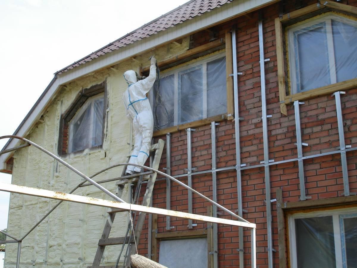 Технология наружного утепления кирпичного дома