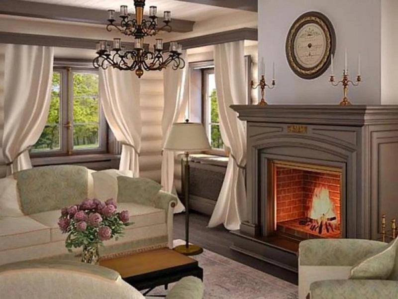Интерьер гостиной в загородном доме +75 фото