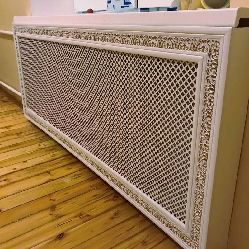 Декоративные экраны для батарей, виды экранов, особенности конструкции и эксплуатации разных видов экранов из дерева, металла, стекла