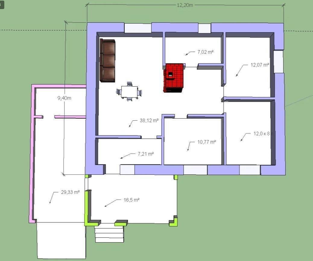 Проекты домов с русской печью: примеры планировок с фото